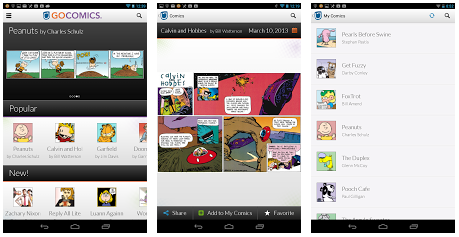 App review gocomics release app for android ios and windows phone