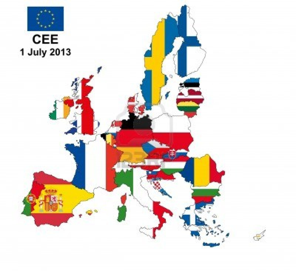 13066717-illustration-of-european-union-map-with-flags-from-1-july-2013
